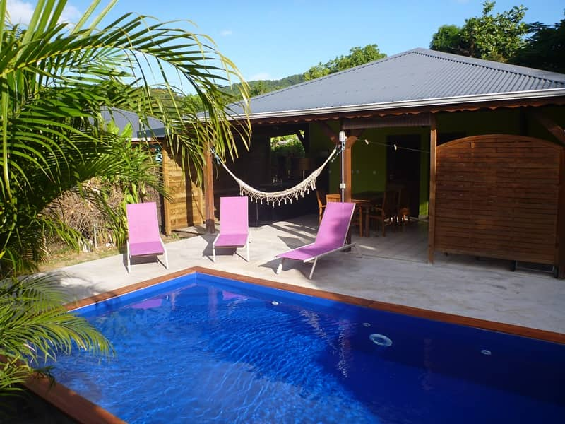 Kaz a coco location villa a deshaies en guadeloupe for Villa piscine privee